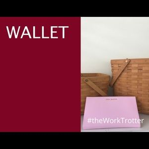 TED BAKER Pink Leather Wallet Folio